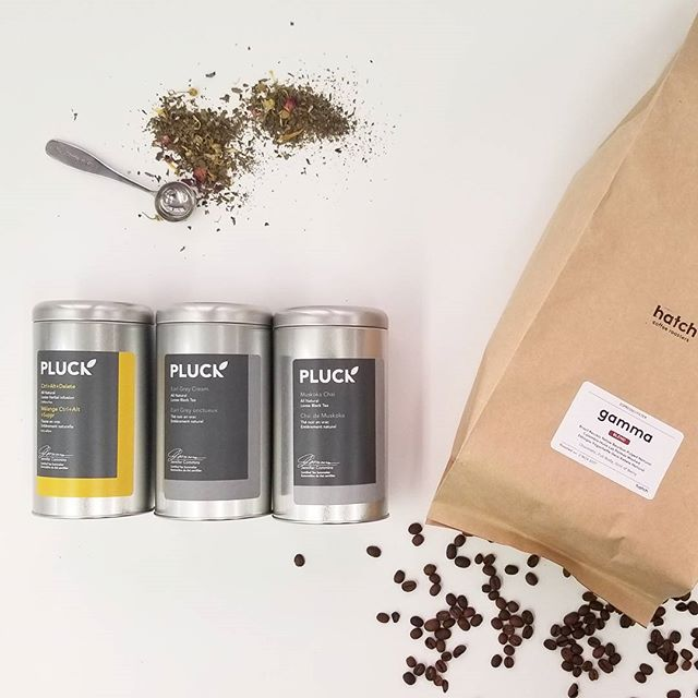 Creative fuel #gamestrong ☕🍵💪 #local #tea and #coffee brewing at FOLD! . . #creativefuel #drinklocal @pluckteas @hatchcrafted #morningcoffee #afternoontea #bottomsup