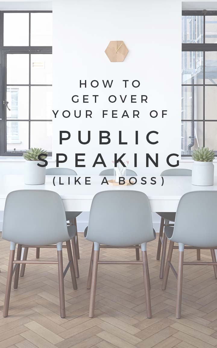 How to get over a fear of public speaking