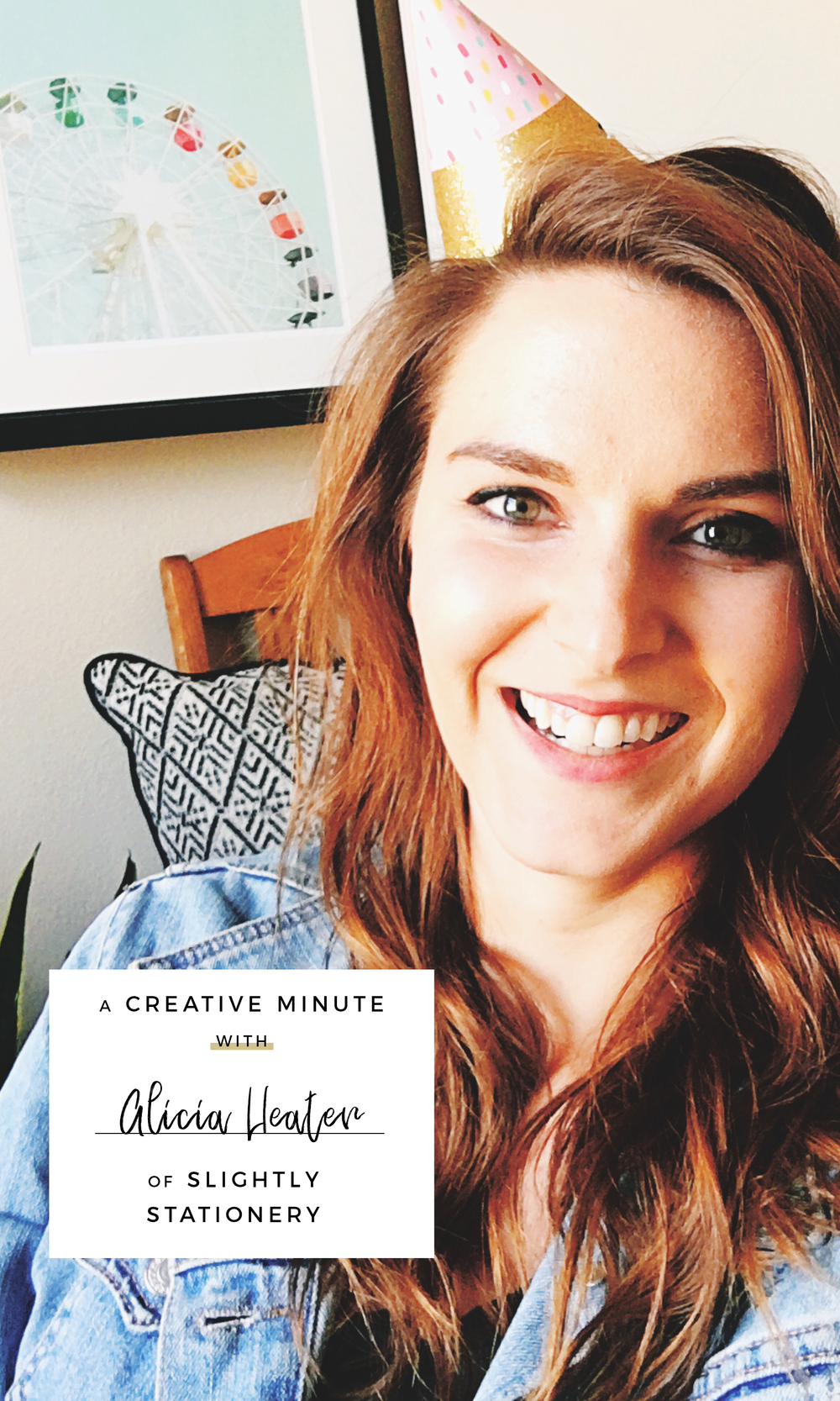 A Creative Minute With... Alicia Heater of Slightly Stationery