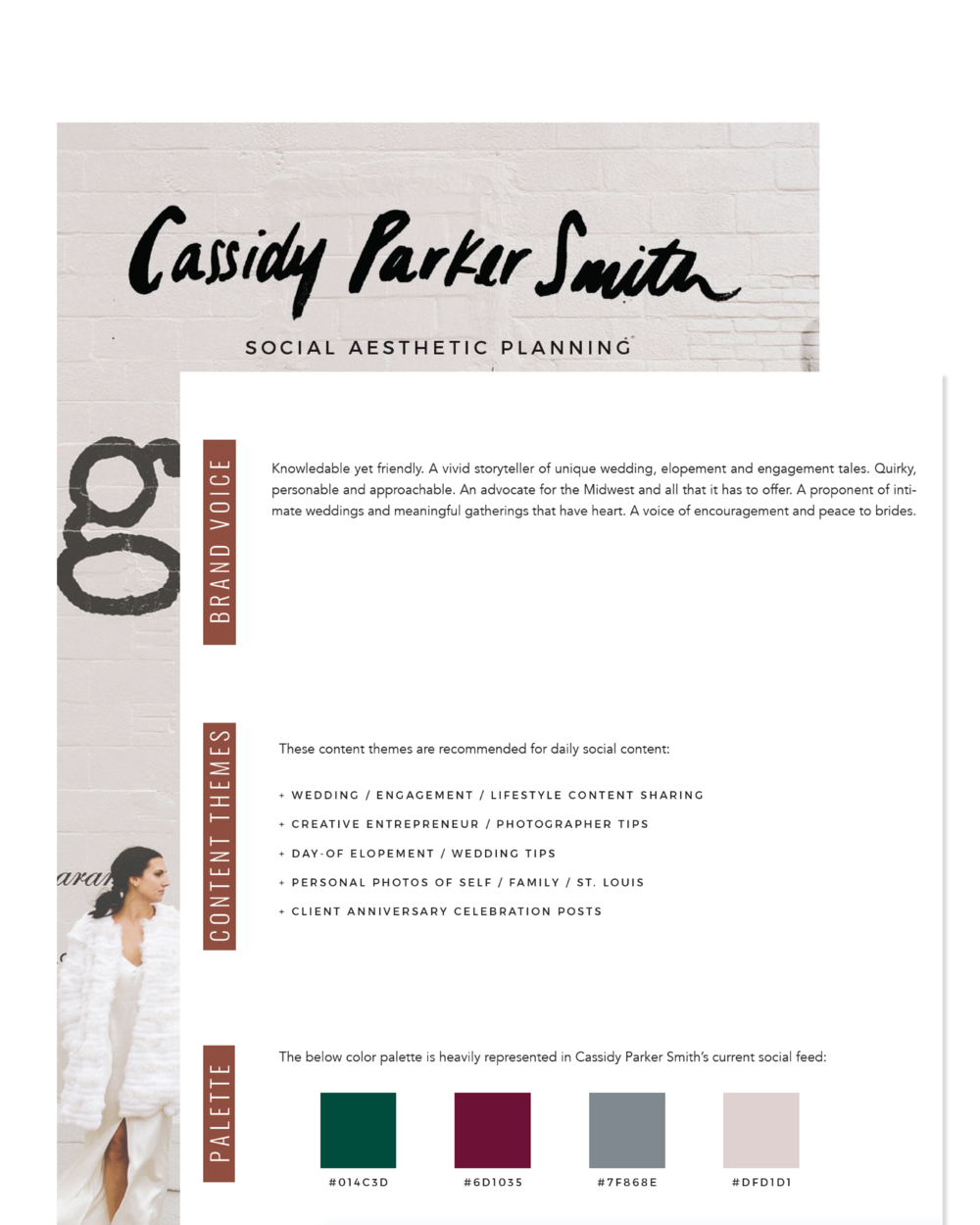 Lindsay Scholz | Cassidy Parker Smith Social Aesthetic Planning Case Study