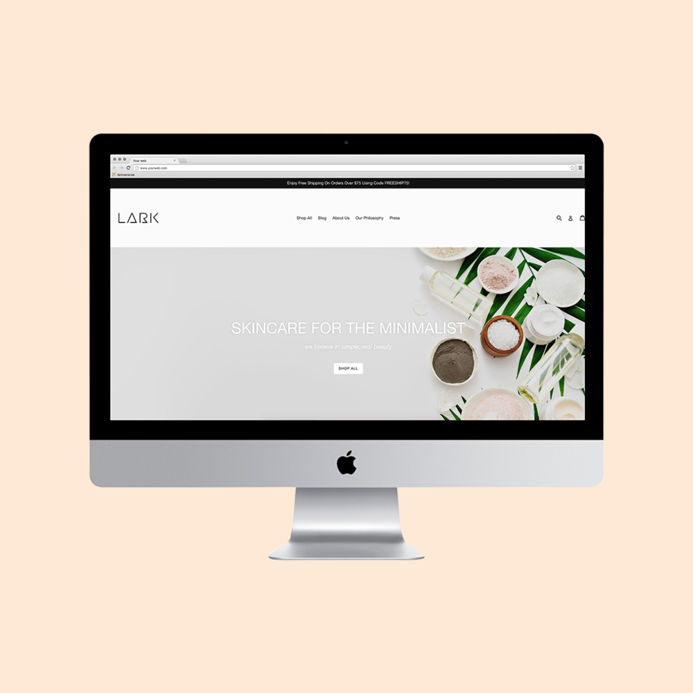 LARK Skin Co. Website Refresh