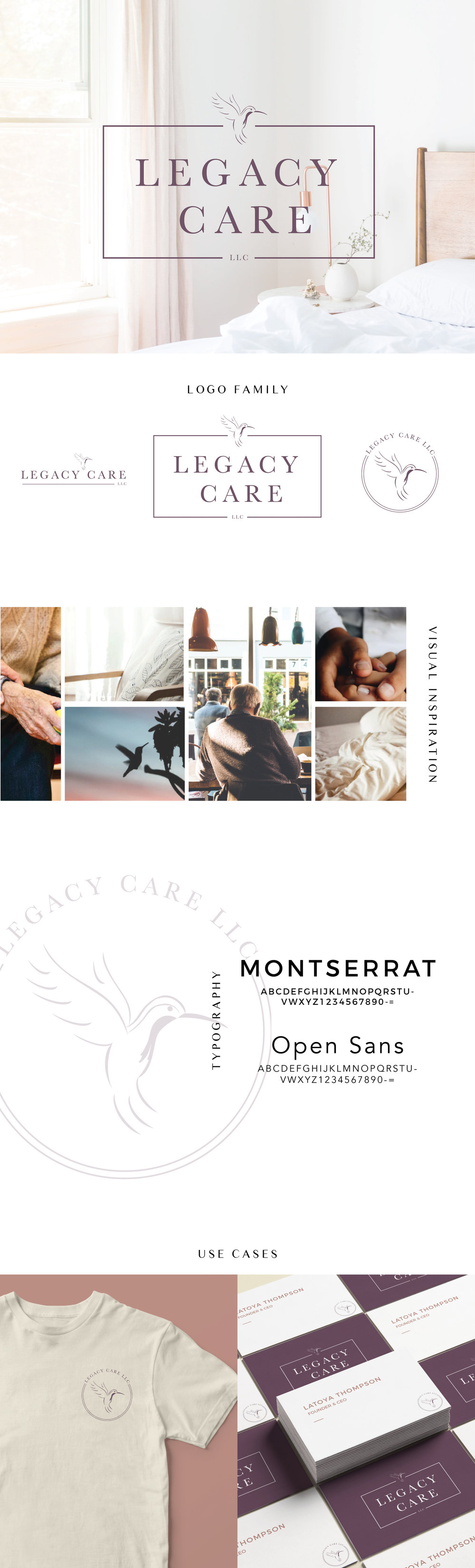 Legacy Care LLC Home Care | Brand Identity and Web Design