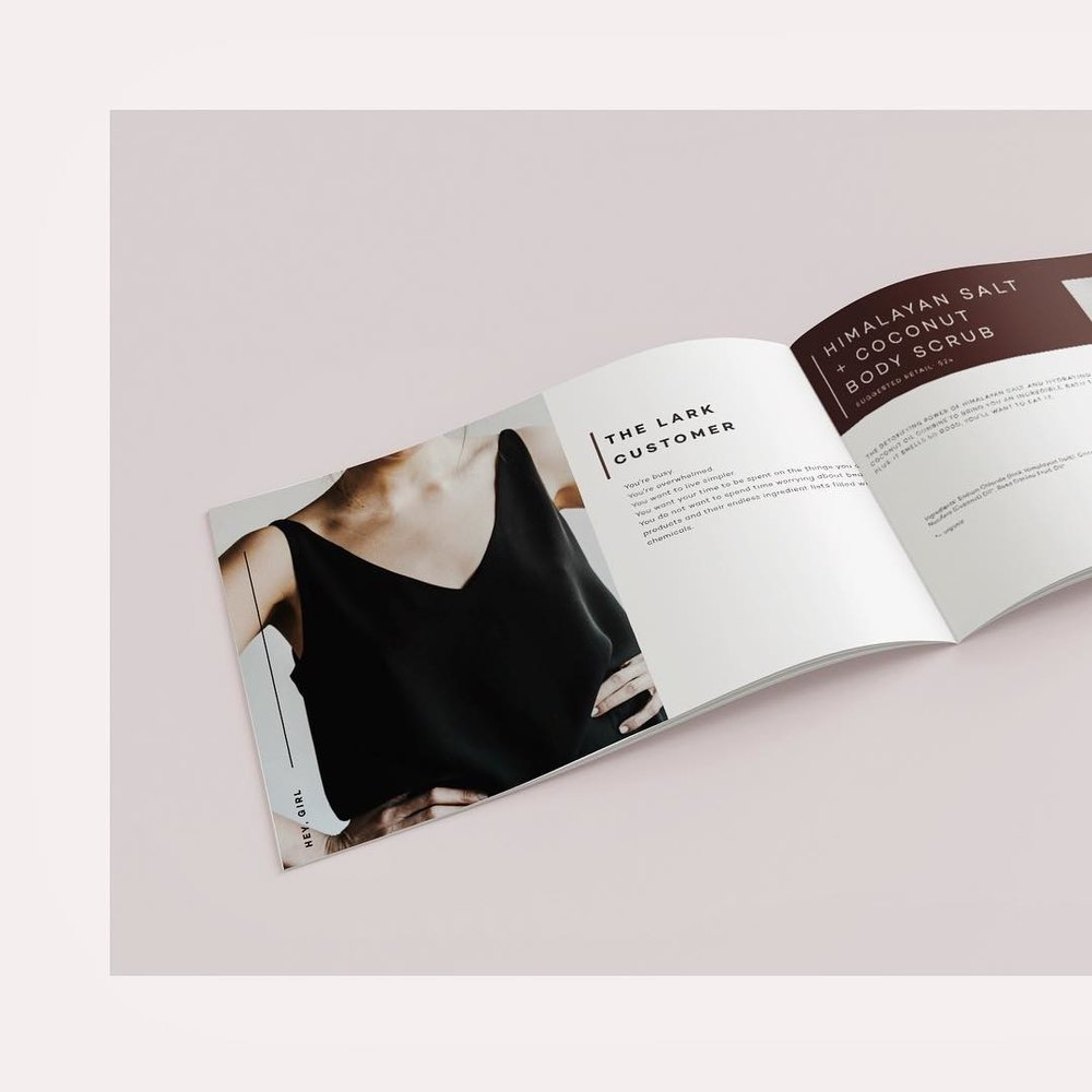 Lark Skin Co. Print Design Case Study