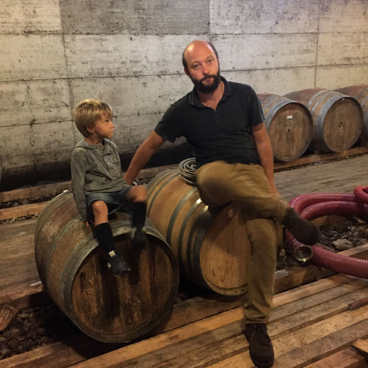 Visit an organic winery with vintner Paolo Marchionni - pictured above with his son.