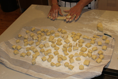 kids learning to cook gnocchi