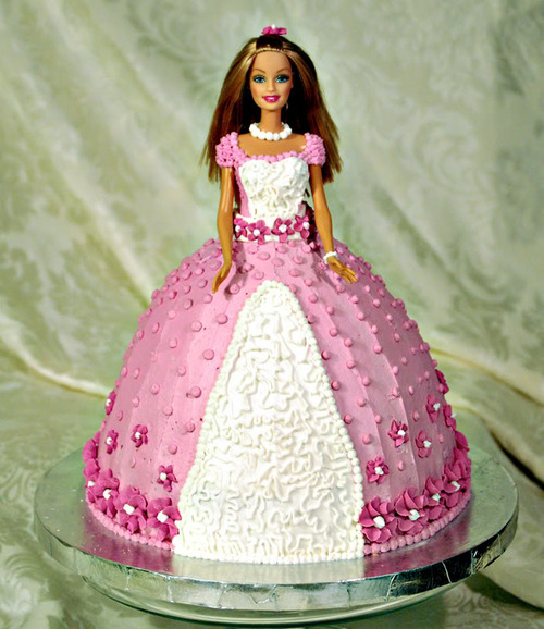 My daughter's Barbie cake