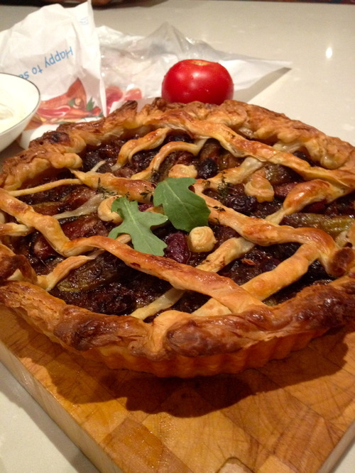 Fresh from the oven - Tuscan fig tart