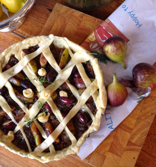 Learn to cook Italian recipes like this Fig tart