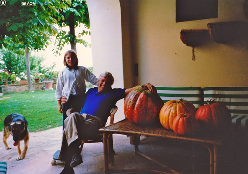 My father and I and our giant pumpkins
