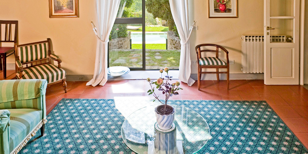 Inside Villa  Le Fontanine  in hills of Florence, Tuscany
