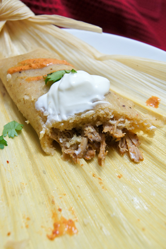 GCCTamales filled with Carnitas in Pipian Sauce SweetBites