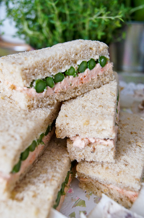 Tea Sandwiches With Cream Cheese And Asparagus Recipe — Dishmaps