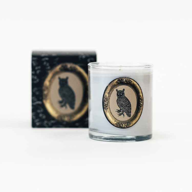 Rounding out the TOP 3 is the  Owl Candle  with a Sandalwood, Tobacco & Vetiver scent.