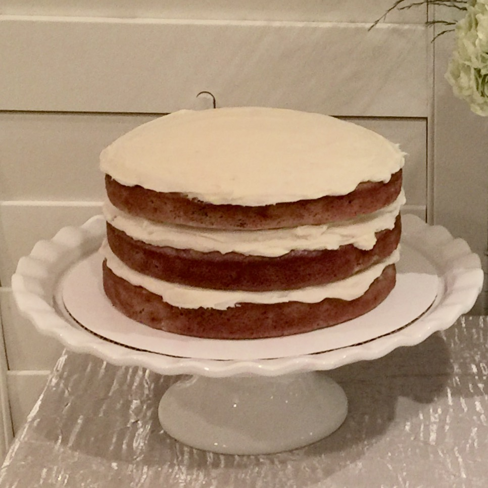 One of my personal favorites is this beauty right here, It's called a hummingbird cake. Try it.