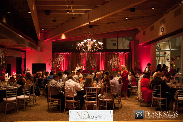 Red. The color of passion and love. Once the sun went down, the soft glow of the red really amplified the room.