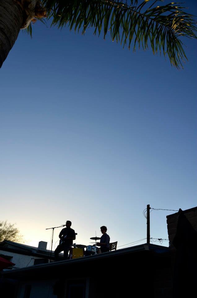 on the rooftop (drummer Hannah Ensor).jpg