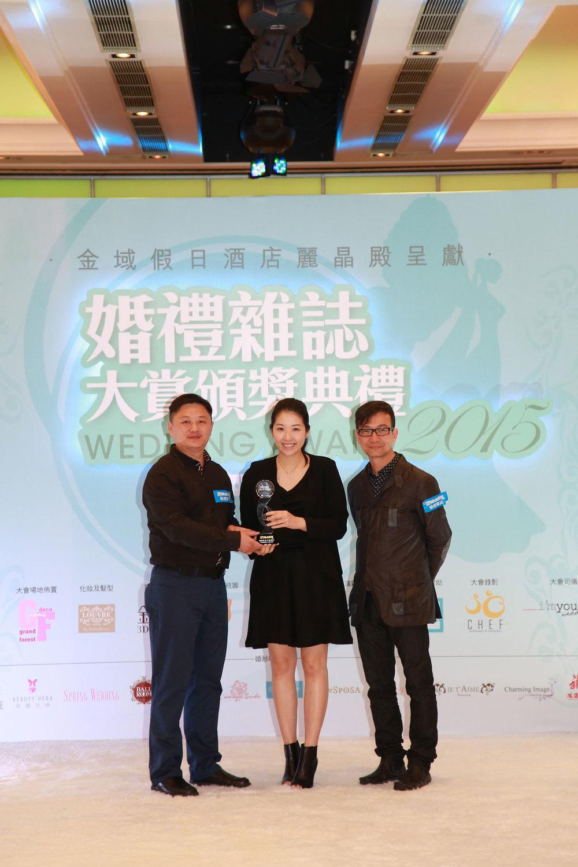 DYOS 創辦人Winnie Fong 接受獎項