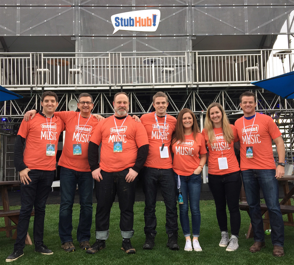 StubHub Music Crew at the Direct TV Fanfest in Glendale AZ, 2015