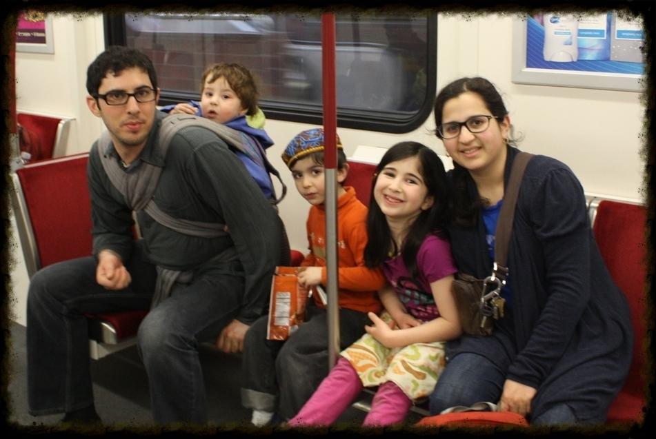 Toronto subway ride with Hypno-Baby Ezra