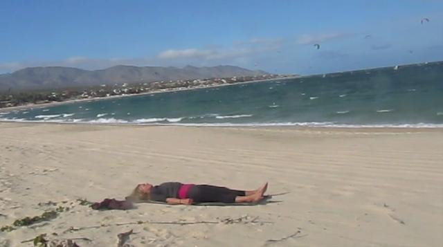 January's Yoga Video. La Ventana, Baja Mexico