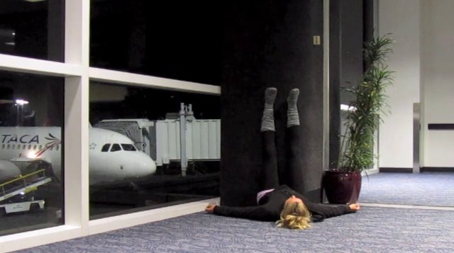 A little LOVE and February's Yoga Video. LAX Airport.