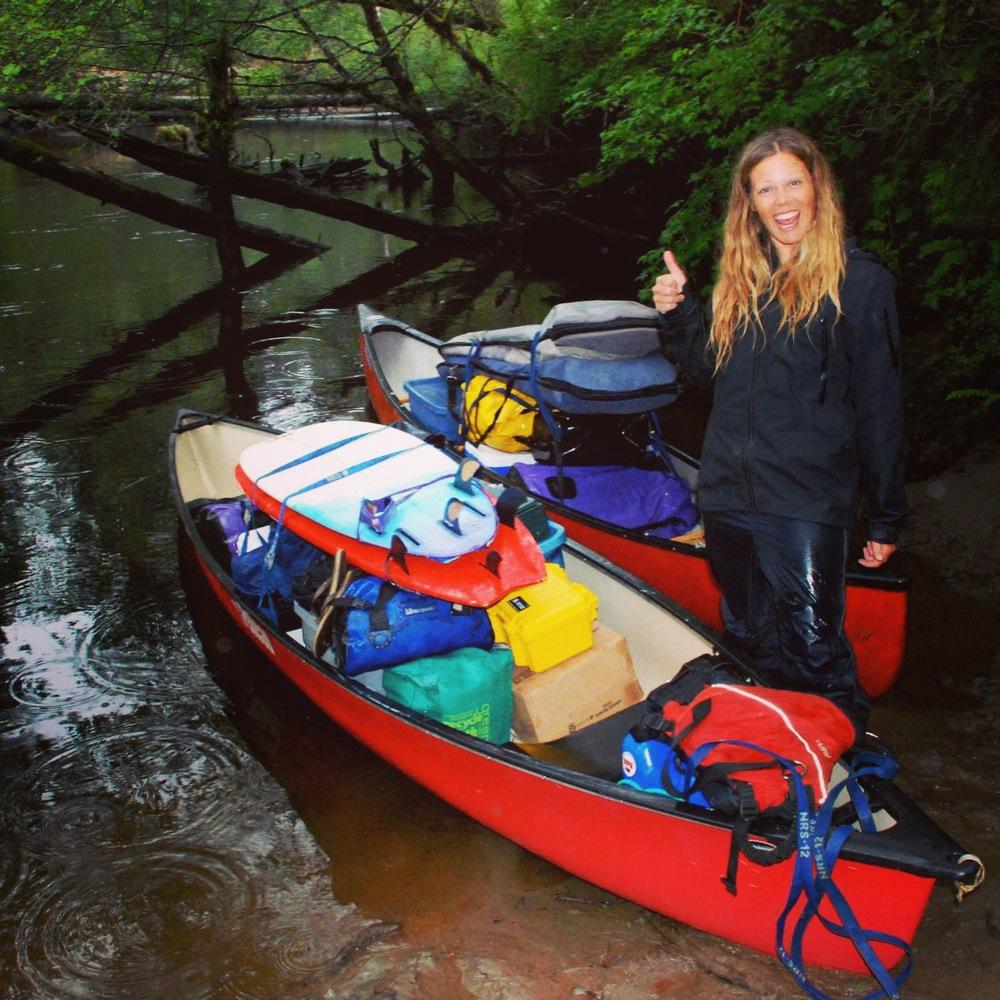 canoe surf trip