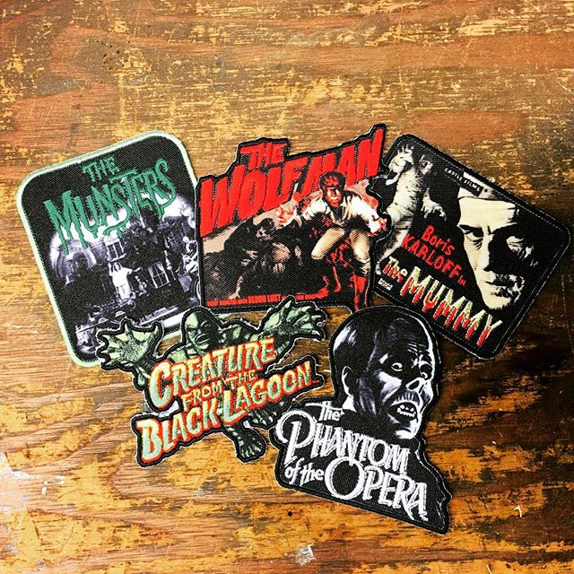 Screen printed and embroidered #patches for #universalmonsters