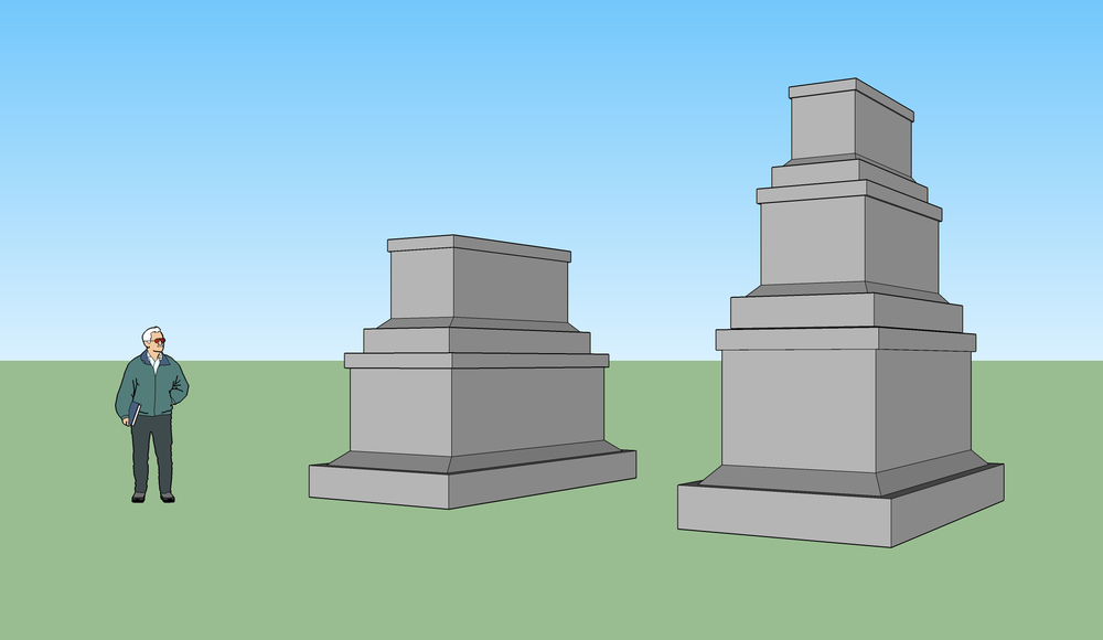 Sketch of Monument to Monuments and the Monument to that Monument