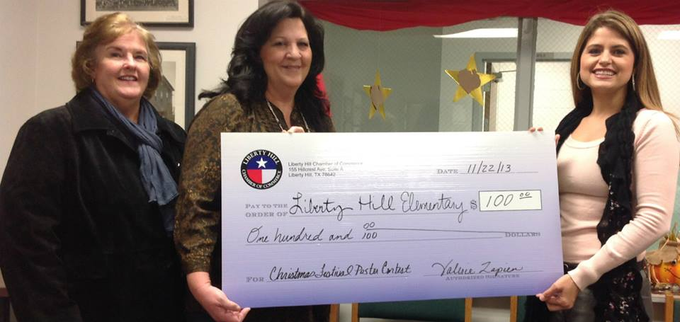 Donation from Chamber to Liberty Hill Elementary School