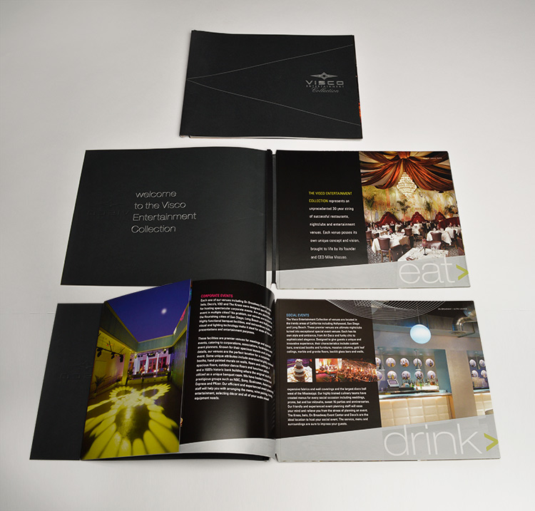 Visco Venues brochure design