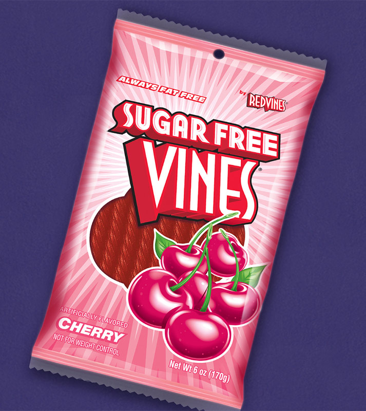 Red Vines bag design. After the redesign of the packaging, the new Red Vines became the top seller in the category.