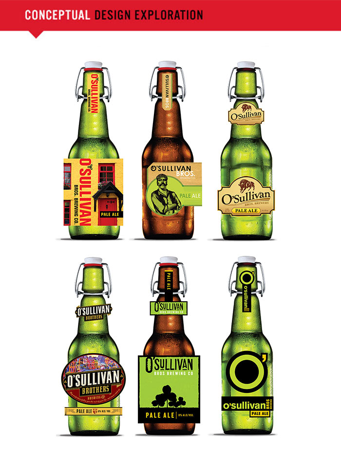 O'Sullivan Beer bottle design - conceptual designs.