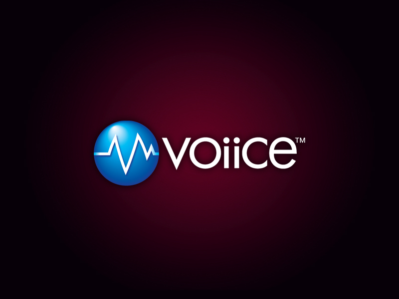 Voiice technology logo design.