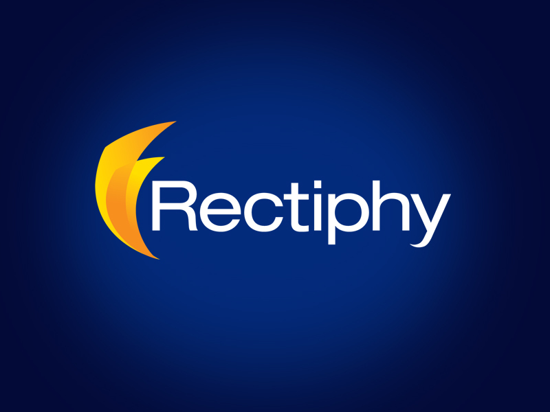 Rectiphy tech logo design.
