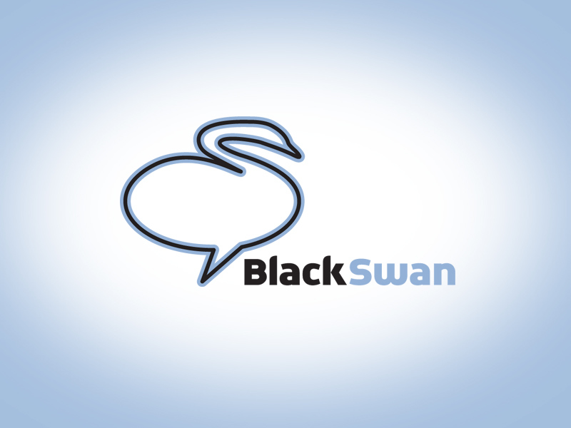 Black Swan social media logo design.