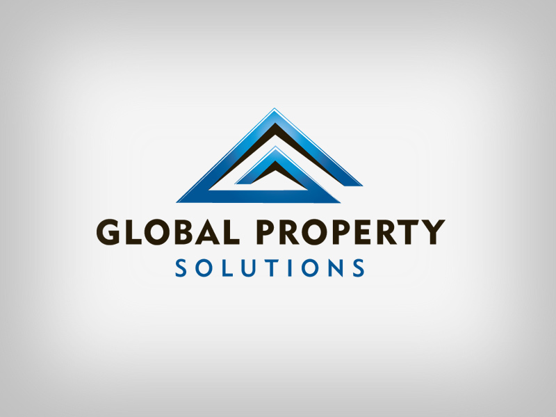 Global Property real estate logo design.