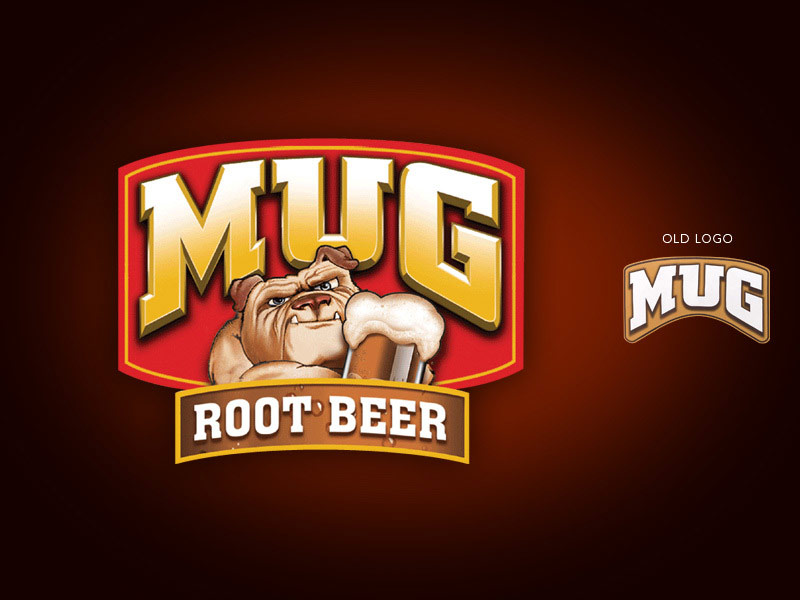 Mug Root Beer beverages brand redesign.