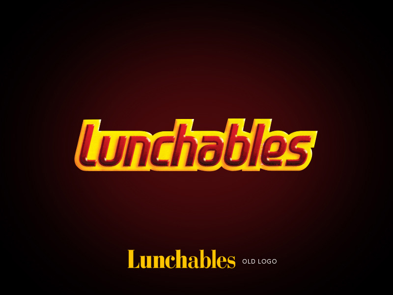 Lunchables brand children's lunch logo design.