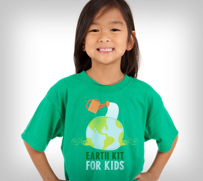 Earth Kit for Kids environmental branding design.