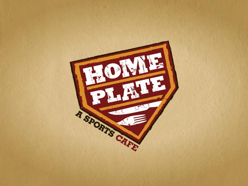 Home Plate bar and restaurant logo design.