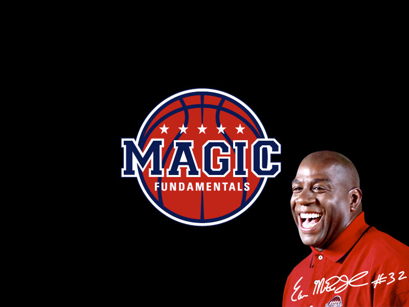 Magic Johnson's Magic Fundamentals sports logo.