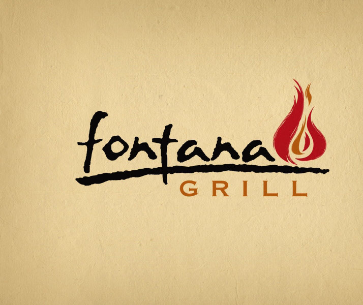 Fontana Grill restaurant and bar logo design.