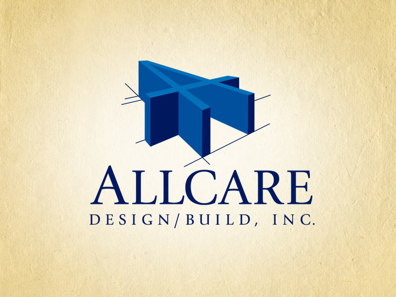 Allcare Design and Build construction company logo design.