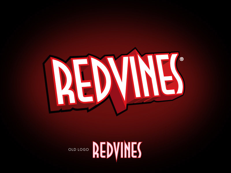 RedVines licorice branding design.