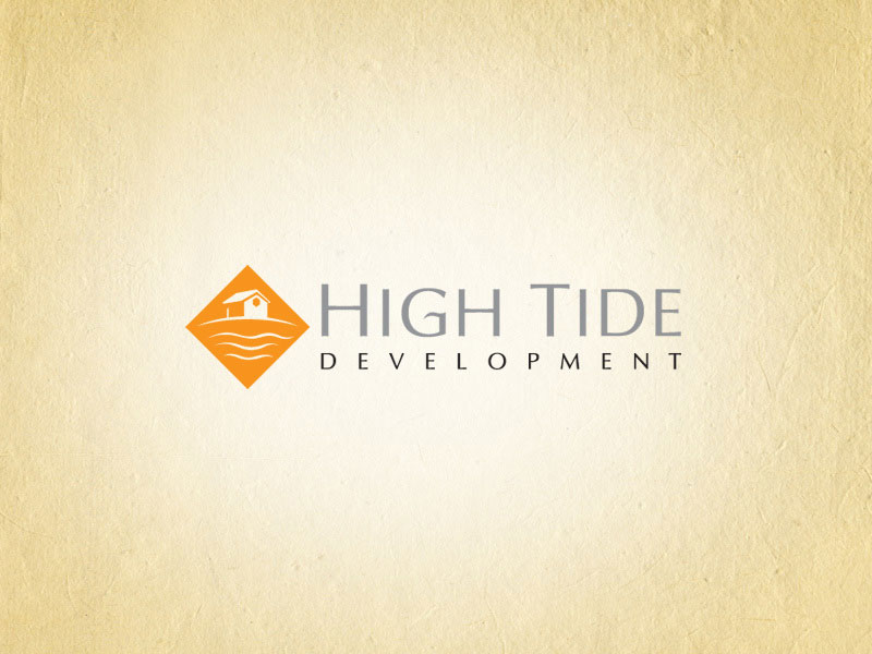 High Tide Development real estate logo design.