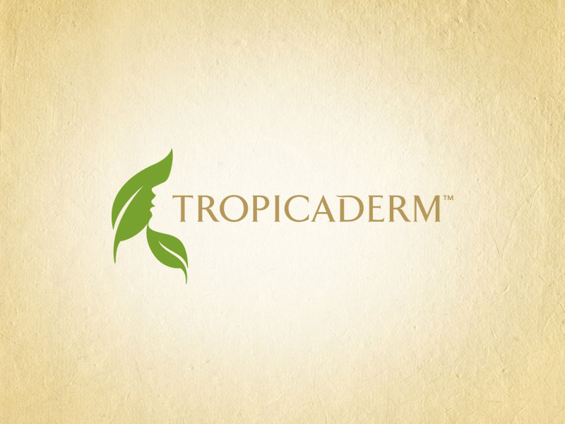 Tropicaderm health and beauty logo design.