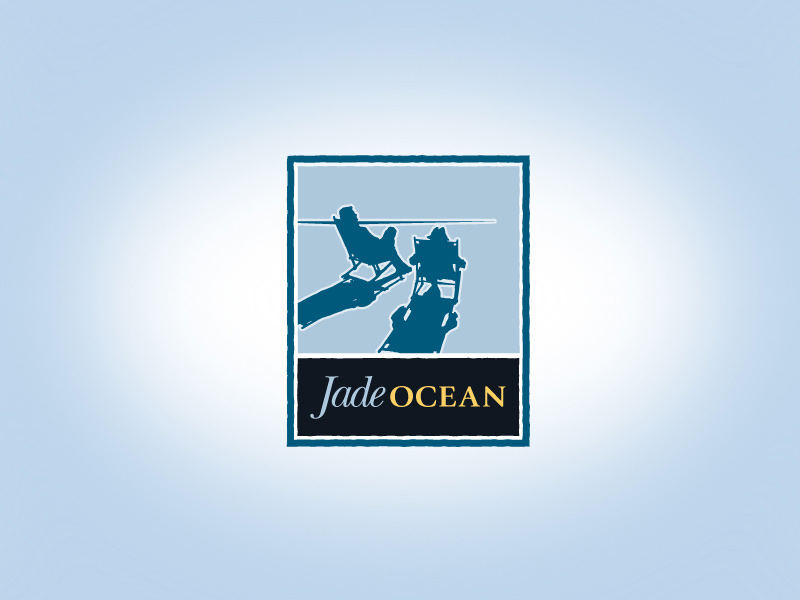 Jade Ocean Baja California resort and spa logo design.
