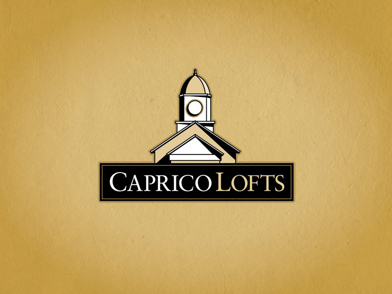 Caprio Lofts real estate logo design.