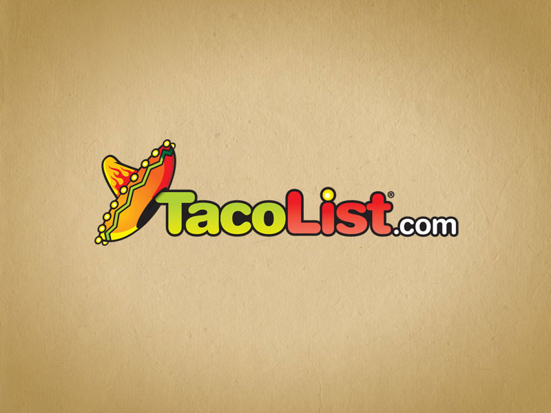 Taco List social media logo design.