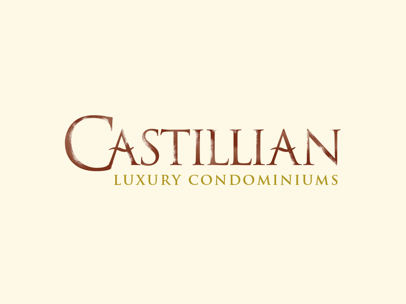 Castillian Condominiums real estate logo design.